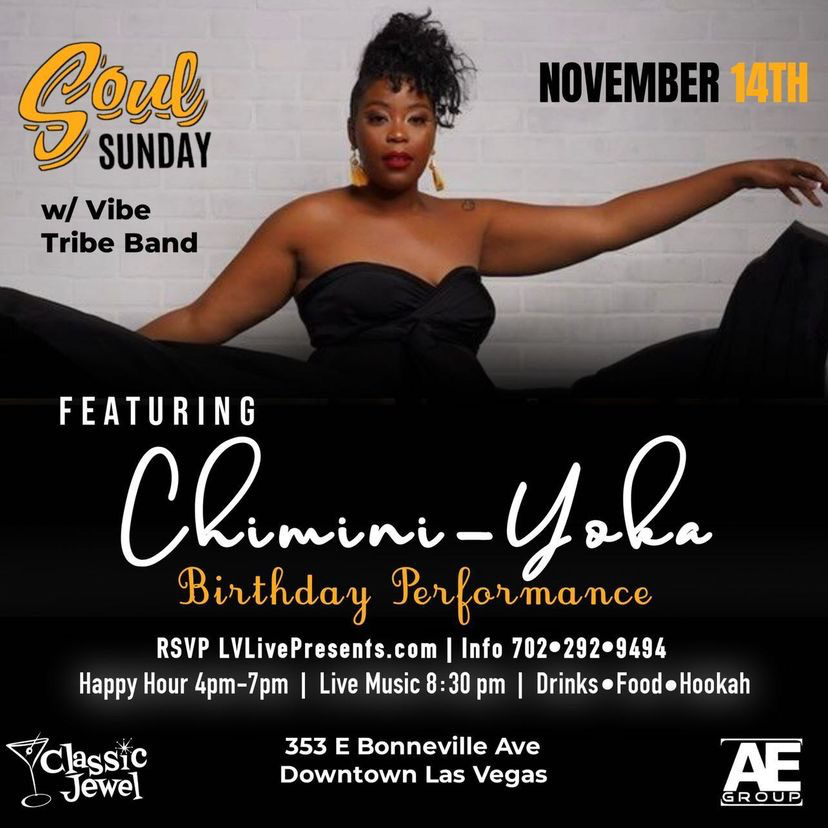Soul Sunday Featuring The Vibe Tribe @ Classic Jewel