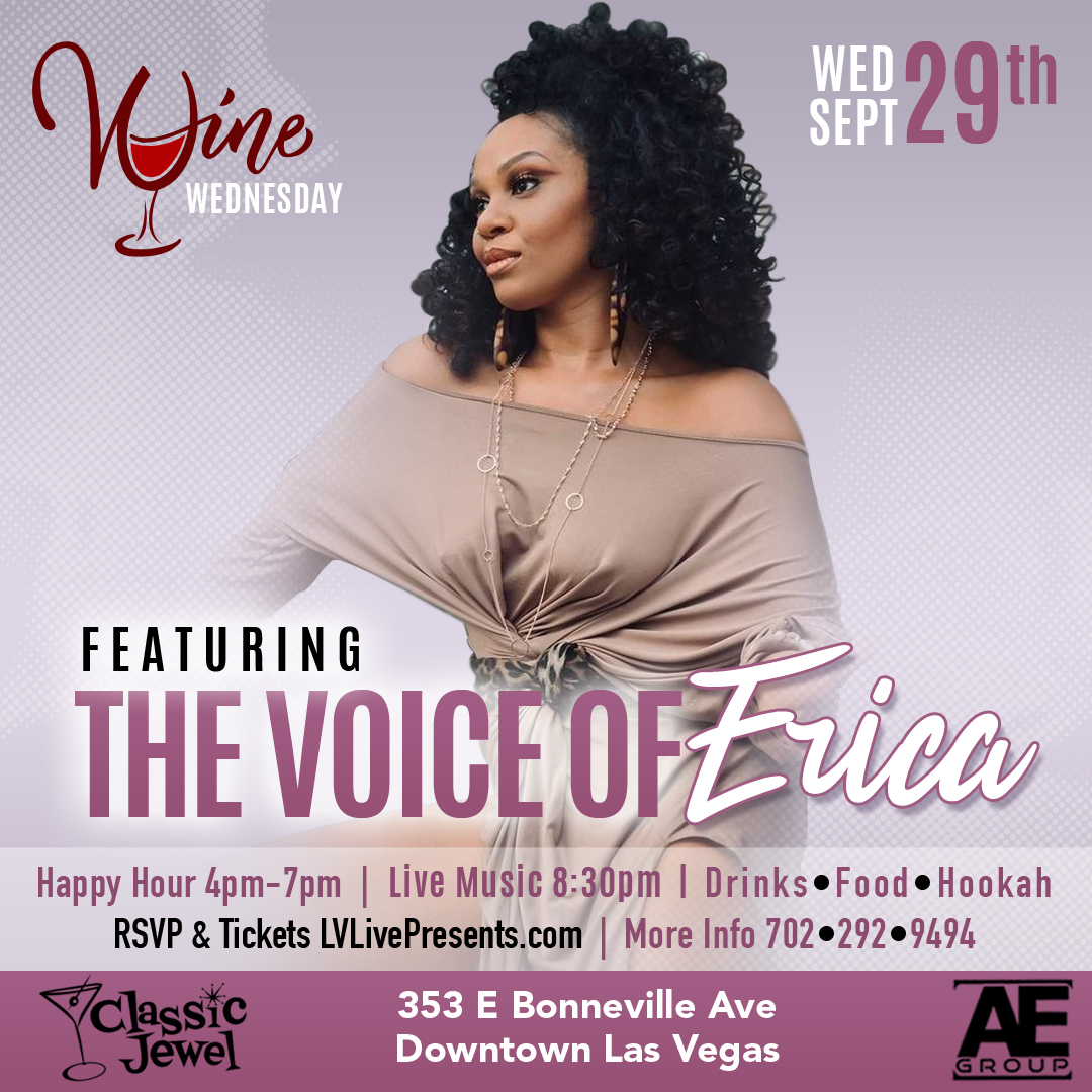 Wine Wednesday featuring The Voice of Erika